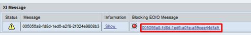 Blocking EOIO Message