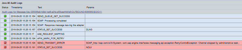 Error related to meesage