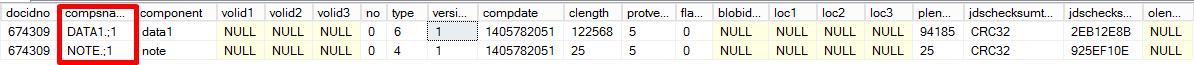 SQL Statement result using docidno