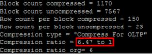 Compression Script output