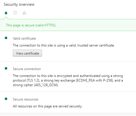 Google Chrome HTTPS verification