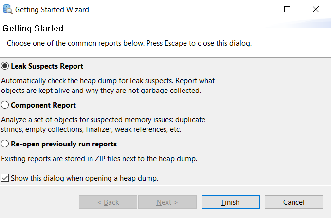 Eclipse Memory Analyzer wizard for OOM.hprof file